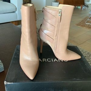 Marciano genuine leather tan ankle boots